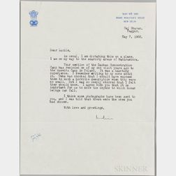 Gandhi, Indira (1917-1984) Typed Letter Signed, New Delhi, 7 May 1966, Concerning a Visit to Auschwitz.