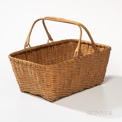 Shaker Double Swing-handled Splint Basket