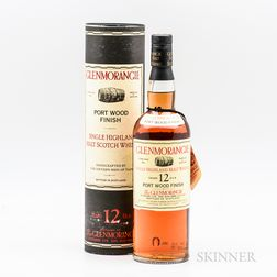 Glenmorangie 12 Years Old Port Wood Finish 1990s, 1 750ml bottle (oc) Spirits cannot be shipped. Please see http://bit.ly/sk-spirits...