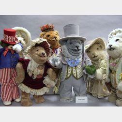 Collection of Thirteen Modern Artist Stuffed Animals