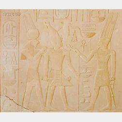 Joseph Lindon Smith (American, 1863-1949)      King Sesostris Between the Gods Amun and Horus-Ra