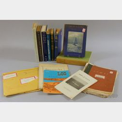 Eight Sailing Books and Related Prints, Magazines, Plans, Articles, Etc.