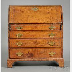 Queen Anne Tiger Maple Slant-lid Desk