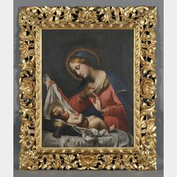 Continental School, 19th Century      Madonna and Child, A Copy in the Manner of Correggio