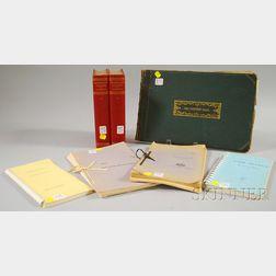 Seven Assorted Books and Portfolios
