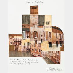 Peter Hutchinson (British, b. 1930)      Venice at High Tide