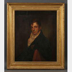 Attributed to Rembrandt Peale (Pennsylvania, 1778-1860) Portrait of Philadelphia Merchant Samuel Neave Lewis (Philadelphia, 1785-1841).