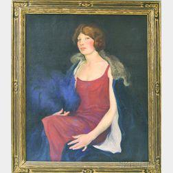 W.B. Timlin (American, 20th Century)      Portrait of Miss McL.