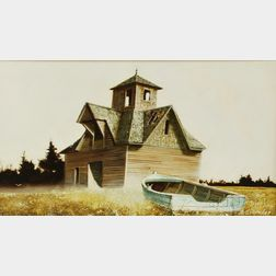 Albert Henry Schroder (American, 1929-2004)      Baldy's Barn