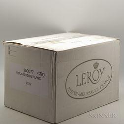 Leroy Bourgogne Blanc 2012, 12 bottles (oc)