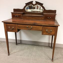 Edwardian Mahogany and Inlay Dressing Table
