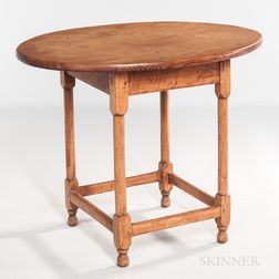Pine and Maple Oval-top Tap Table