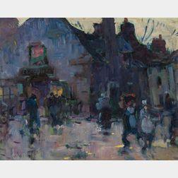 Harry Aiken Vincent (American, 1864-1931)      Market Vendors, Late Afternoon