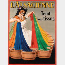 Albert Dorfinant, called Dorfi (French, 1881-1976)      L'Alsacienne teint tous tissus