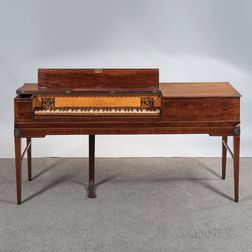 English Mahogany Inlaid Square Piano