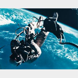 James McDivitt (American, b. 1929)      First US Space Walk, Ed White's Eva Over Gulf of Mexico