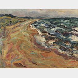 William Henry Johnson (African/American, 1901-1970)      Coastal Surf