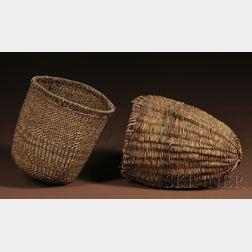 Two Southwest Wicker Carrying Baskets
