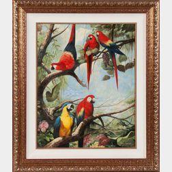 Ray Jacob (American, 20th Century)      Parrots