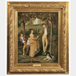 John Lewis Krimmel (Philadelphia, Pennsylvania, 1787-1821)      The Cherry Pickers