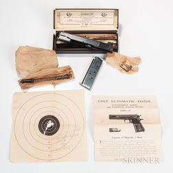 Rare Colt .45-.22 Government Model Conversion Unit with Original Box, Instructions, and Test Target