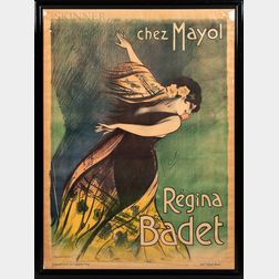 Georges Dola (French, 1872-1950)      Advertising Poster: Régina Badet, Chez Mayol