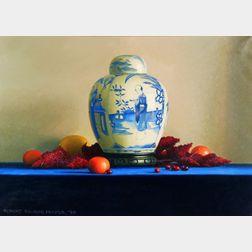 Robert Douglas Hunter (American, b. 1928)    Still Life with Vase