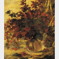 Elizabeth Otis Lyman Boott Duveneck (American, 1846 - 1888)      ...Leaves