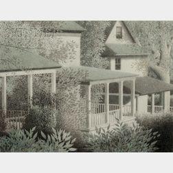 Robert Kipniss (American, b. 1931)      Green Porches