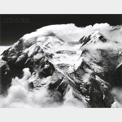 Bradford Washburn (American, 1910-2007) Two Mount McKinley Views: Tremendous Southerly Windstorm Sweeps Mt. McKinley's Twin Peaks, Jun