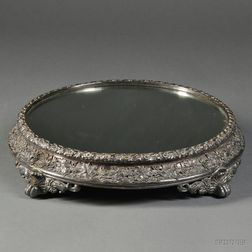 George IV Sterling Silver-mounted Mirrored Plateau