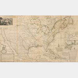 North America. Herman Moll (1654-1732) A New Map of the North Parts of America claimed by France under ye Names of Louisiana, Mississip