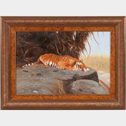 Ray Jacob (American, 20th Century)      Tiger at Rest