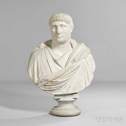 Marble Bust of a Roman Emperor