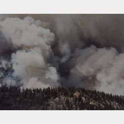 Laura McPhee (American, b. 1958)      Smoke Above Fisher Creek, Valley Road Wildfire, 40,838 Acres Burned, Custer Country, Idaho