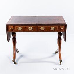 Regency Mahogany and Mahogany-veneered Sofa Table