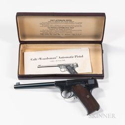 Colt Woodsman Target Model Semiautomatic Pistol with Original Box and Instructions