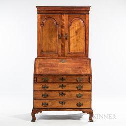 Chippendale Cherry Desk Bookcase