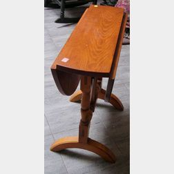 William & Mary Style Pine and Maple Drop-leaf Butterfly Table and a Child's Cherry   Drop-leaf Table