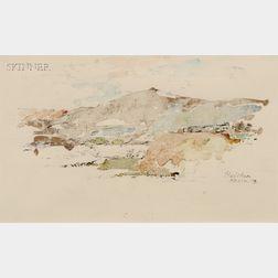 John Edward Heliker (American, 1909-2000)      Landscape, Andalusia