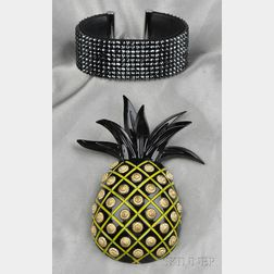 Pineapple Brooch, Isabel Canovas
