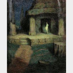 Girard Van Barkaloo Hale (American, 1886-1958)      Une Femme Dans Un Parc