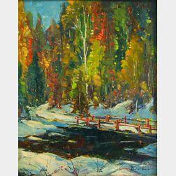 John F. Enser (American, 1898-1968)      Early Snow, Maine