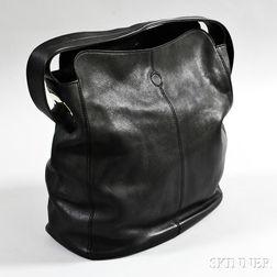 Tod's Black Leather Hobo Bag