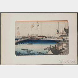 Utagawa Hiroshige (1797-1868), Yoshida Station