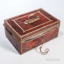 Crocodile Skin Covered Box