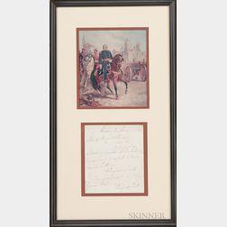 Framed Winfield Scott Note