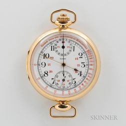 Leroy 18kt Gold Doctor's Chronograph Open-face Watch