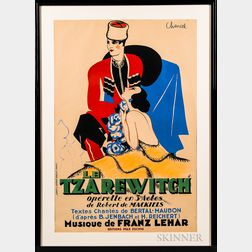 Jean-Louis Roger Chancel (French, 1899-1977)      Poster for the Operetta Le Tzarewitch