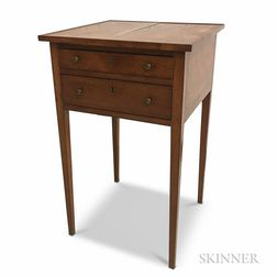 Cherry Two-drawer Worktable
